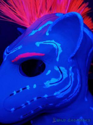 Quietfire Version 2 - UV Quarter Closeup (in the UV Light)