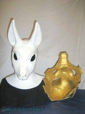Jackal 100 - Mask With Armor Beside It