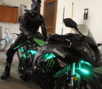 Biker Dusty On His Motorcycle