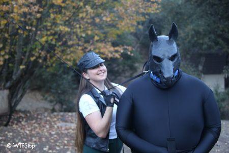Rubberzebra and Rebecca at the Human Fox Hunt 2013