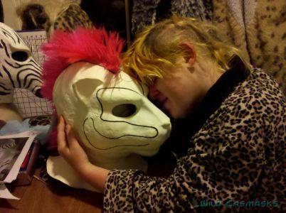 Quietfire's Mask - Adding Blue Stripes