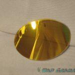 Wildgasmasks mirrored lens in gold