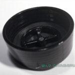 Close up image of a plain black intake valve. It has 40mm NATO threading.
